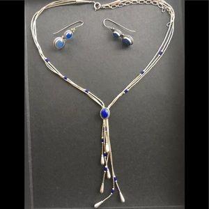 Jewelry - Southwestern liquid silver lapis lazuli Rare  Set